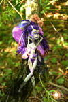 ((Hana Violet custom doll))Resing by a willow tree by Franken-Fish