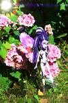 ((Hana Violet custom doll))Flower power by Franken-Fish