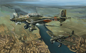 Ju 87 Stuka by Alcomedved