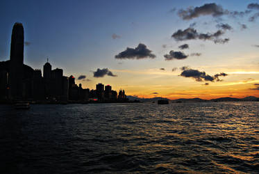 hong kong sunset II by reve-olutionx