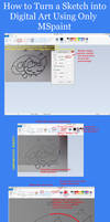 Tutorial- Sketch to Digital Art -MSpaint by MADZbases