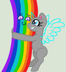 Base 75: i LoVE rAiNbOwS!  yAY cOLoRS!  OuO