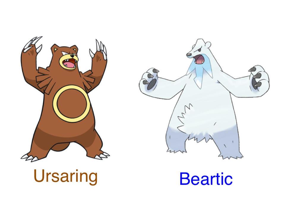 Ursaring Pokemon Beartic Evolut...