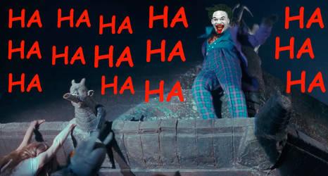 Batman, Joker And Vicki Vale - Hanging On