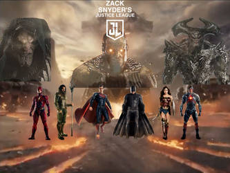 Justice League Movie - Snyder Cut Collage Poster