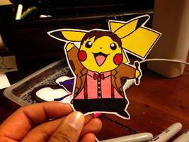 pikachu / doctor 11 (matt smith) by dance-arcadia