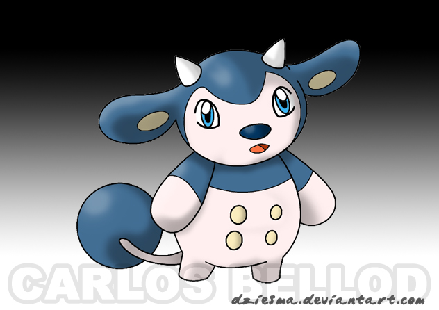 Milkid. The reserve pokemon by Dziesma