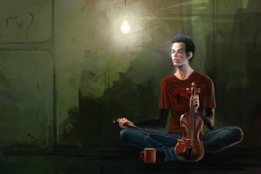 Coffe and Violin by anndr