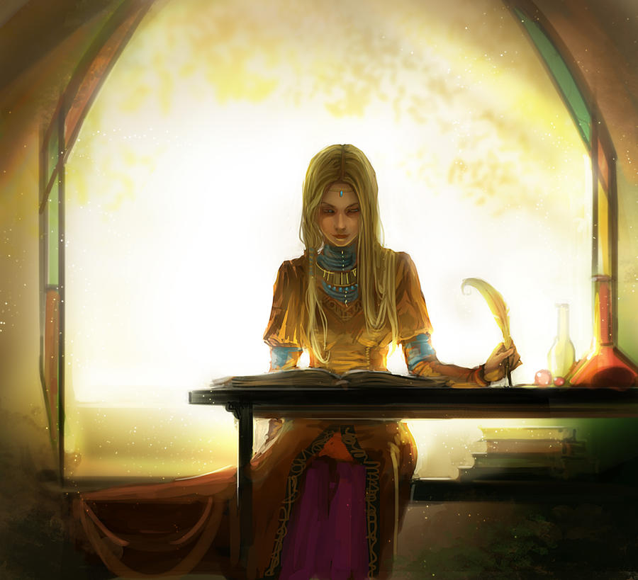 Studing of Magic by anndr