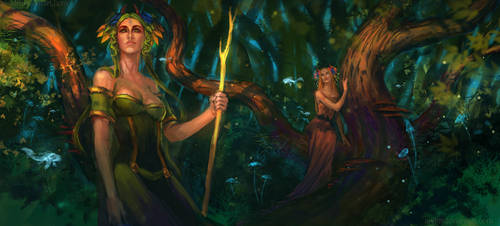 Spirits of the magic forest by anndr
