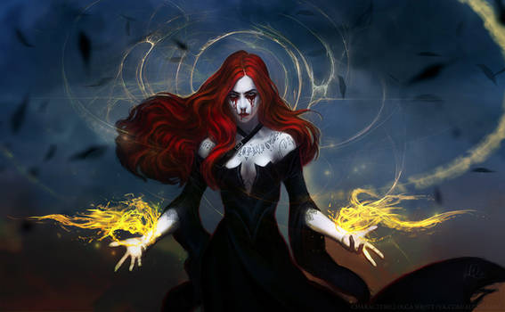 Red tears of the black witch