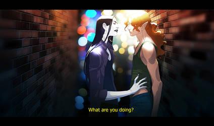 Fake anime screenshot with Kamoril nd Myar by anndr