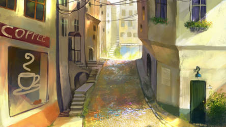 Windside VN street background by anndr