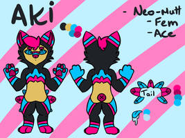 Aki Reference Sheet by Ulteal