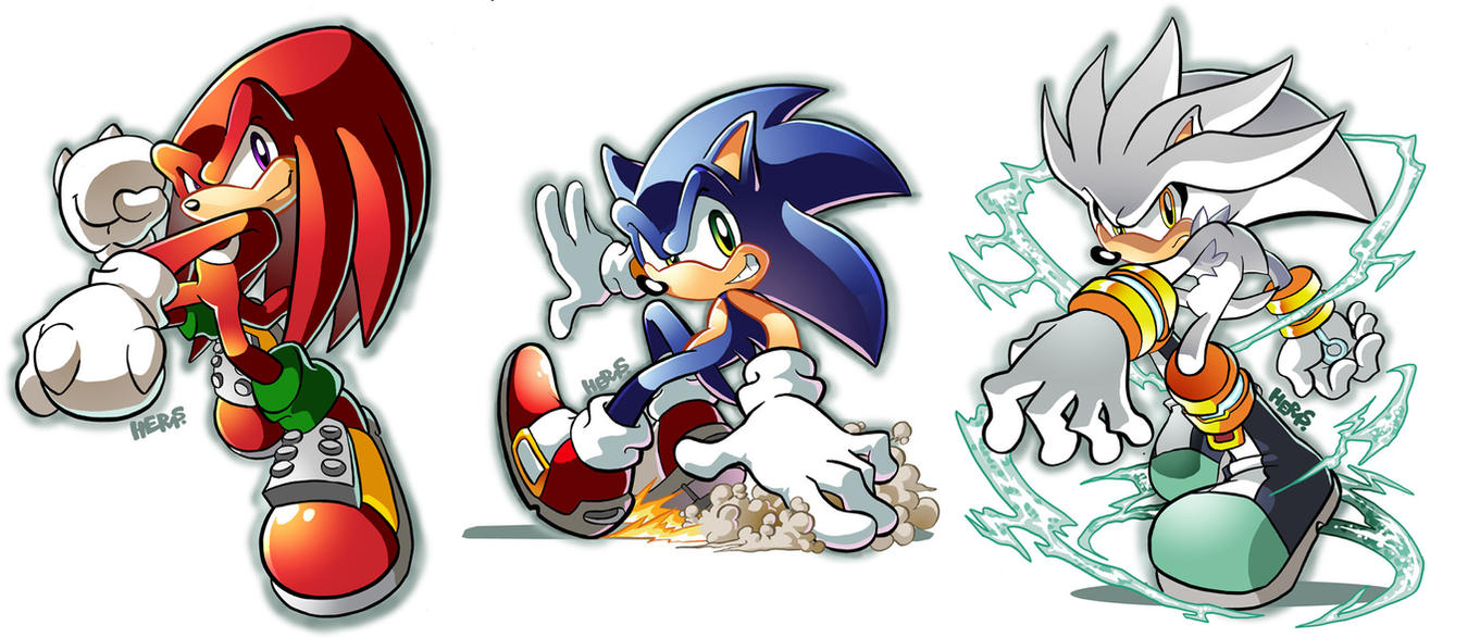 Have sonic shadow and silver as girls consider
