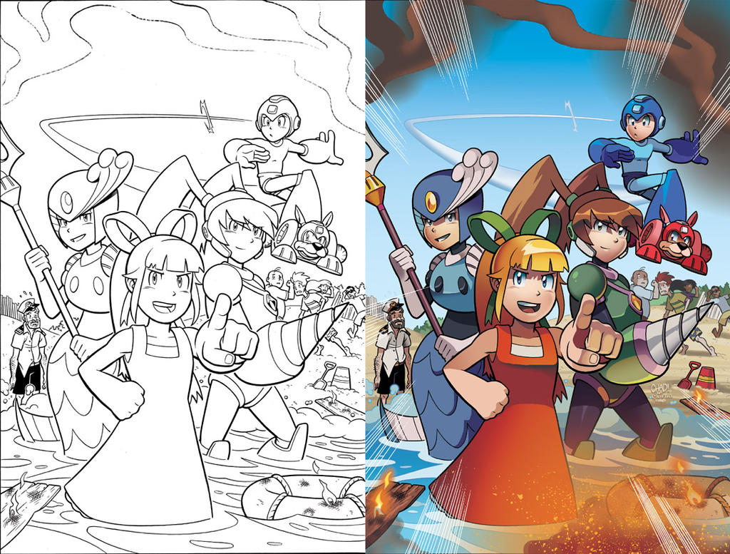 Mega Man 19 Cover by herms85