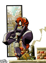 Spider-Girl Sitting Pretty by herms85