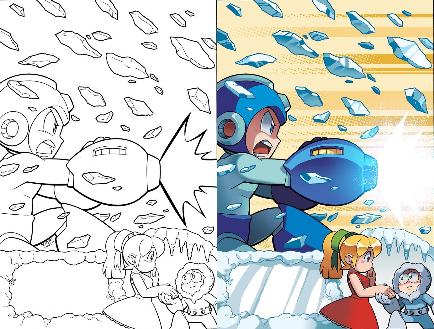 mega man 22 cover by herms85 iceman coloring sheets comics pinterest - Mega Man Printable Coloring Pages
