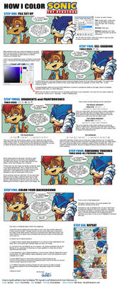 How I Color Sonic the Hedgehog