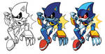 Inks-to-Colors Metal Sonic