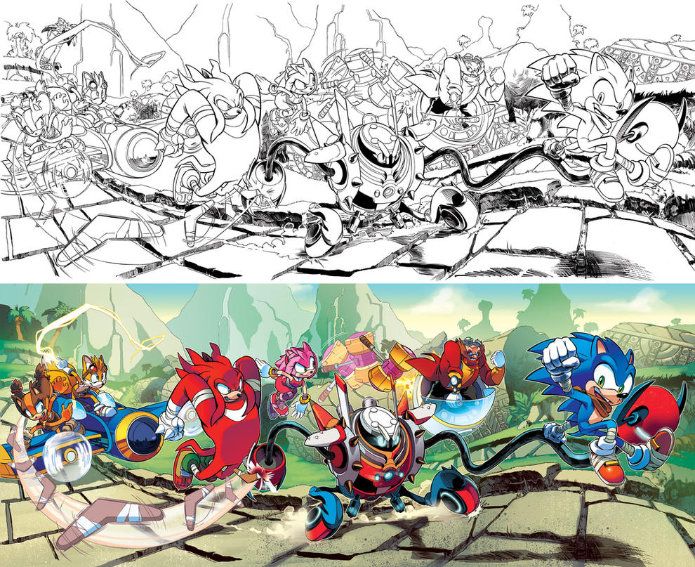 Sonic Boom 01 Variant Covers by herms85