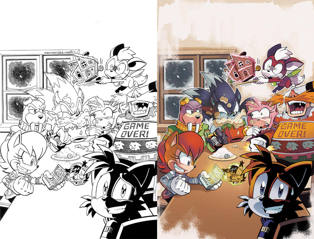 Sonic the Hedgehog 267 Variant Cover by herms85