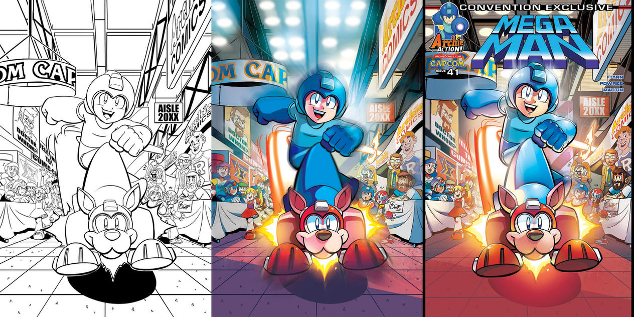 Mega Man 41 New York ComicCon Variant by herms85
