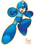 Mega Man (Coloring Commission)