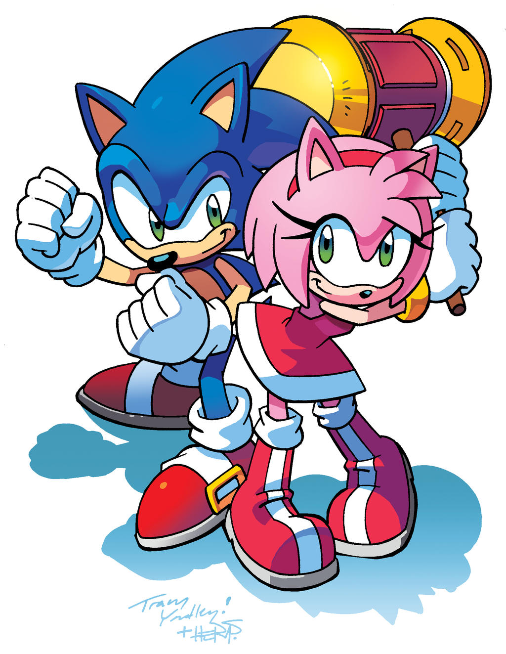Sonic and Amy (Coloring Commission) by herms85 on DeviantArt