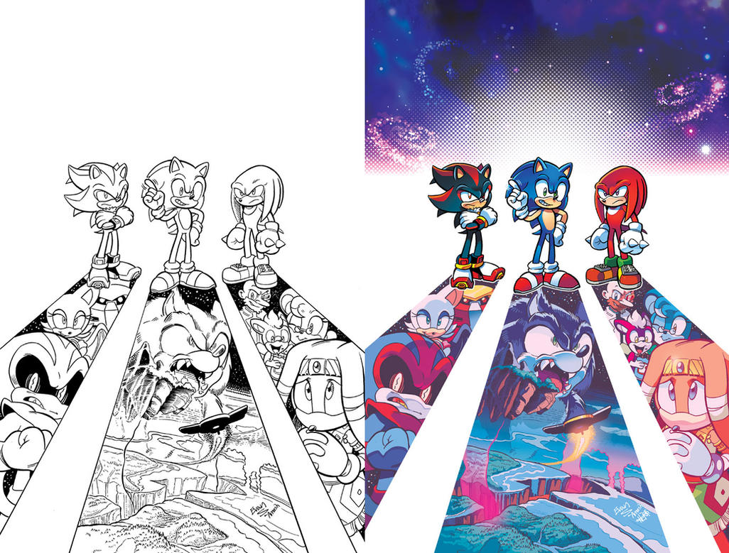 Sonic Universe 75 Variant by herms85