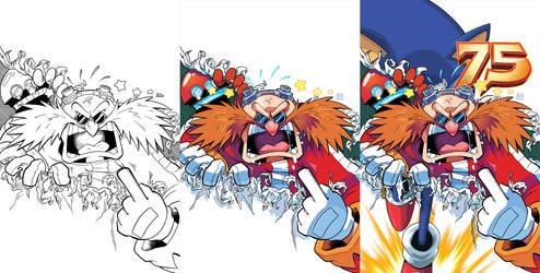 Sonic Universe 75 Half Variant