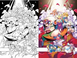 Mega Man 51 Variant by herms85