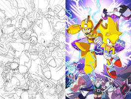Mega Man 52 Cover by herms85