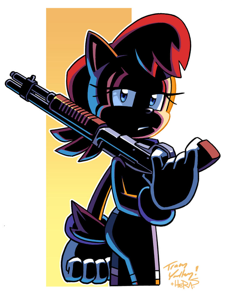 Shotgun Sally (Coloring Commission) by herms85