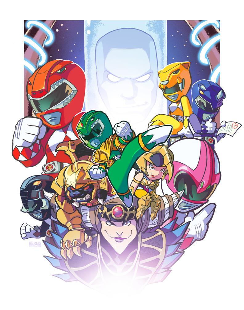 Mini Morphin Pocket Rangers by herms85