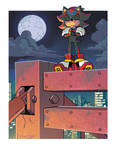 Shadow the Hedgehog (Coloring Commission)