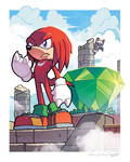 Knuckles the Echidna (Coloring Commission)