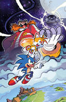 Sonic the Hedgehog (IDW) 01 Variant by herms85