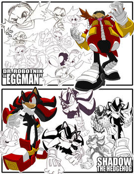 Sketches-Eggman+Shadow