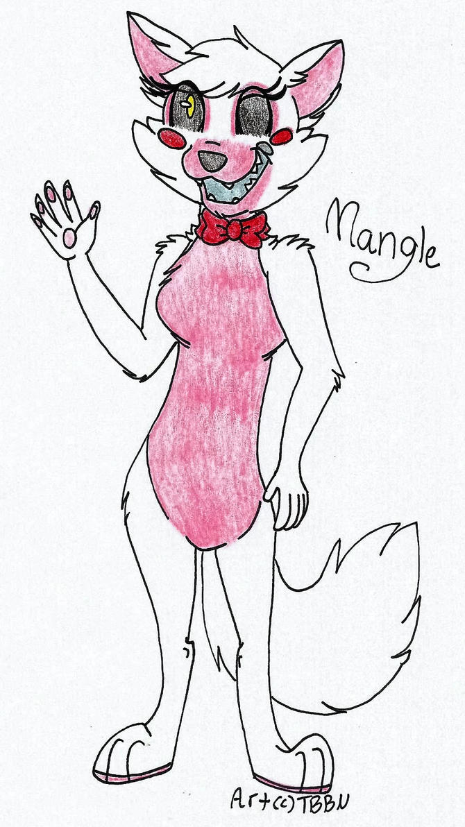 Mangle Anthro by TheBestBadNewz