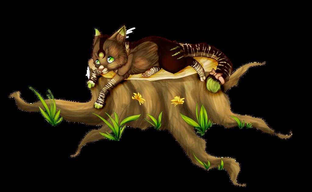 Kitty on a tree. by xXlittleCupcakeXx