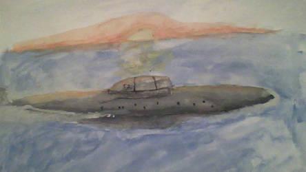 Akula II class submarine by DogG6