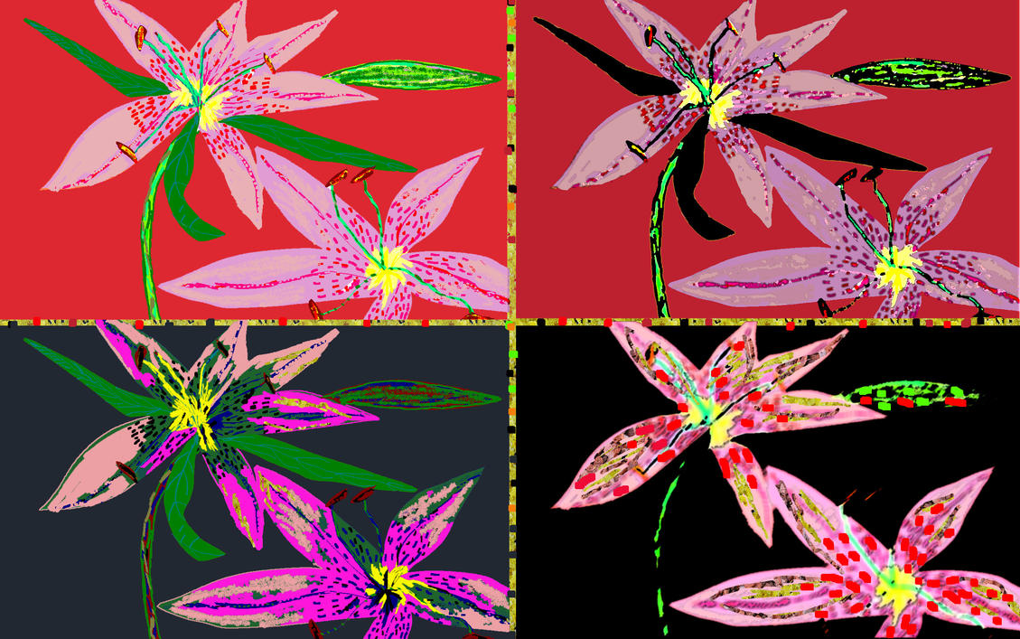 Stargazer Lilies by Dreamydeb