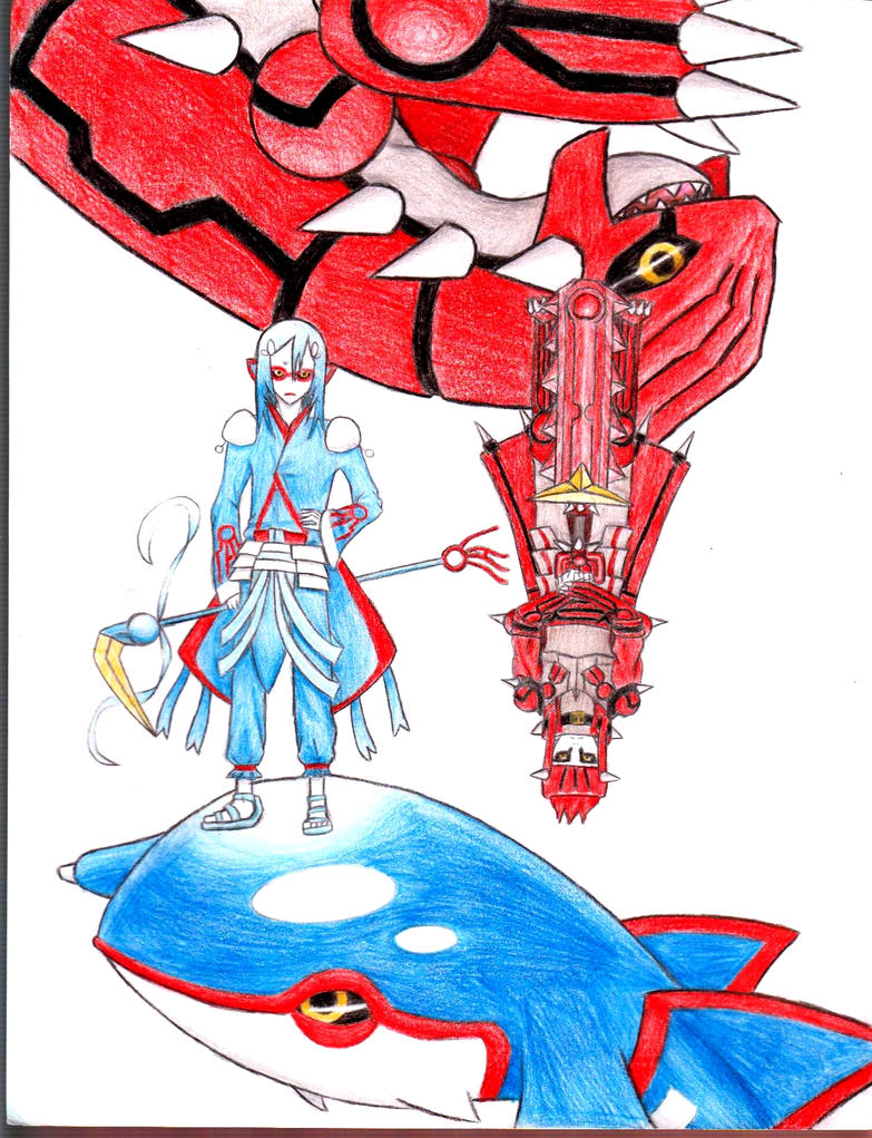 Kyogre and groudon by makkurayabun on deviantart - Pictures of groudon and kyogre ...