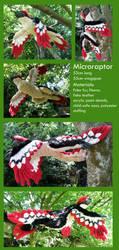 Microraptor Plush by PixelMecha