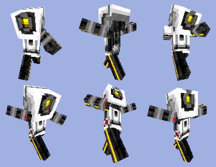 Portal GLaDOS  Minecraft skin by PixelMecha