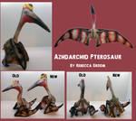 Azhdarchid Pterosaur Plush- many views