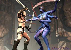 Northar Vs. Kali by dragonsmyth