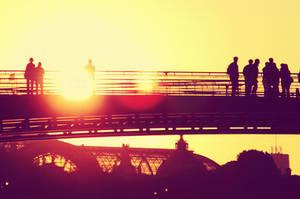 Bridge to sun by convallie