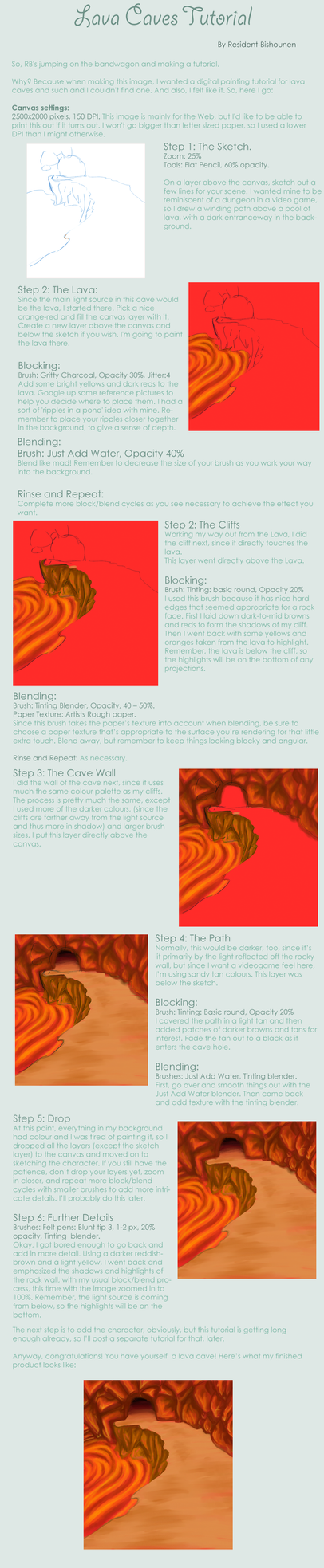 Lava Caves Tutorial by Resident-Bishounen